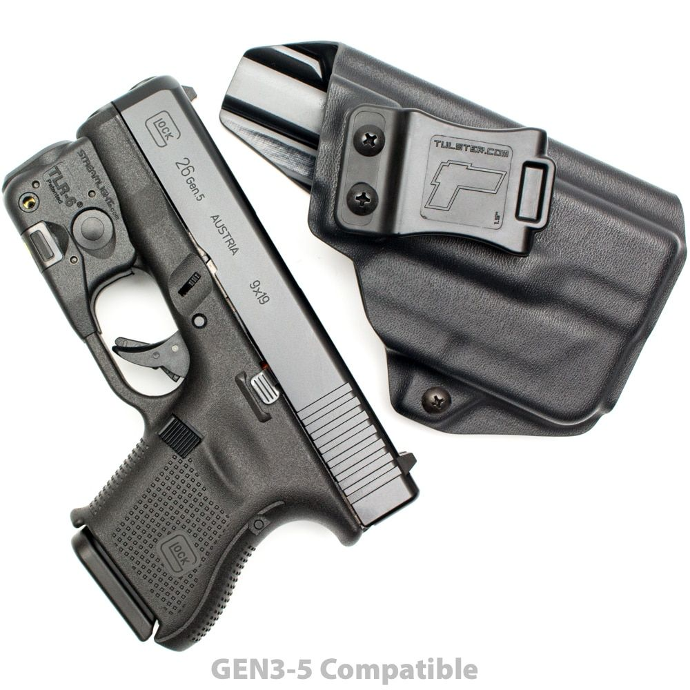 Glock 26 27 28 33 W Streamlight Tlr 6 Iwb Aiwb Kydex Holster