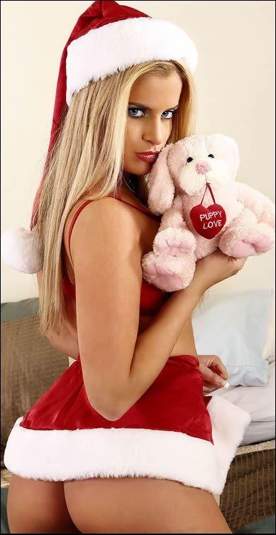 blonde Sexy christmas