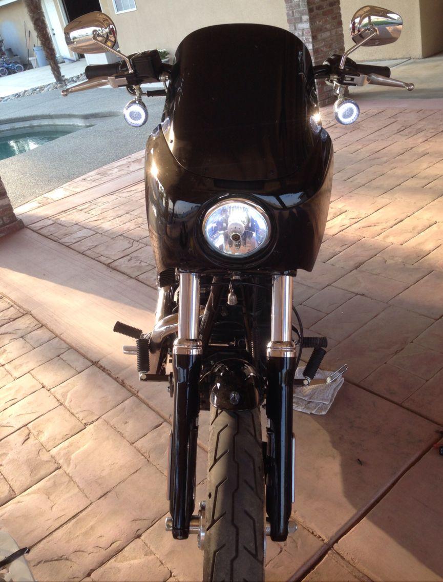 Rifle fairingcustom dynamics turnscyclops led headlight