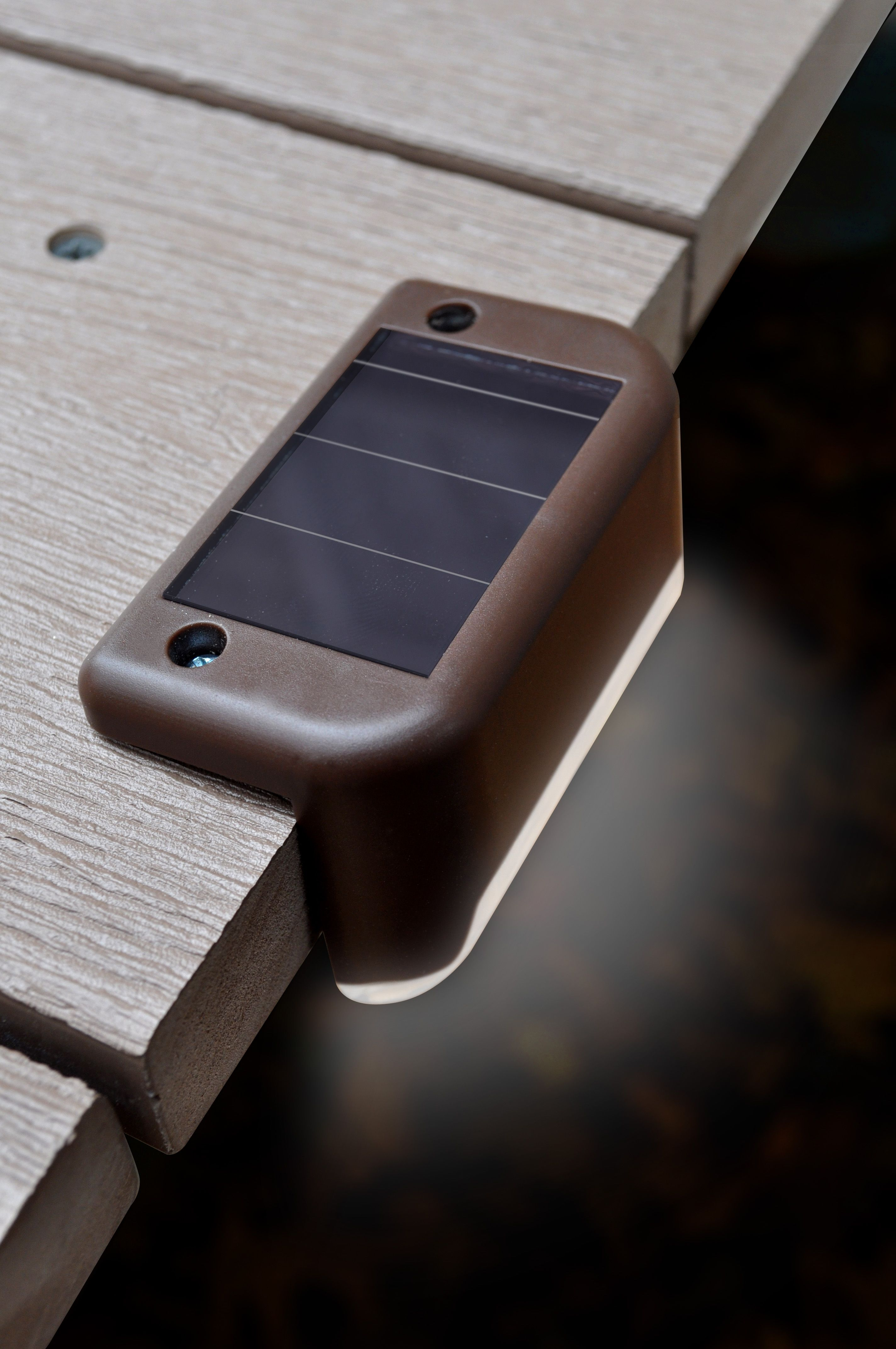 Solar powered led deck lights pack of 4 adirondack chairs these nifty little solar deck lights light up your steps railing or deck edges they add beauty and even more importantly prevent you from aloadofball Images