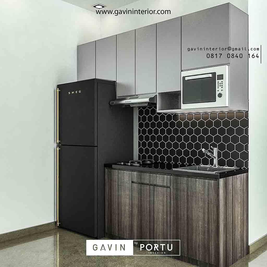Sebagai Referensi Design 3d Untuk Anda Yang Mempunyai Ukuran Dan Juga Bentuk Ruang Dapur Sempit Atau Kecil Dan Ingin Membuat Kitchen M Dapur Apartemen Kabinet