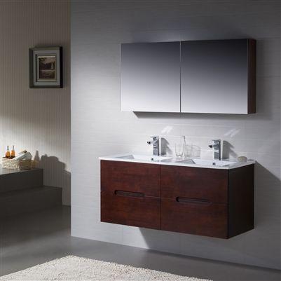 Vanity Elton 48 Double With Porcelain Top 48 Double Sink