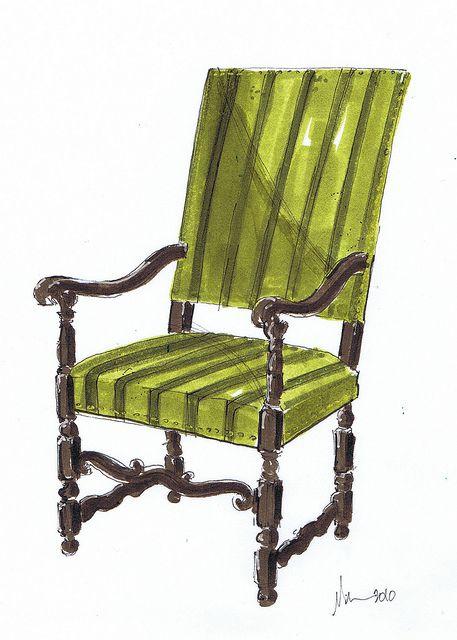 Green Upholstered Chair, Michelle Morelan