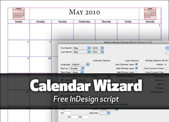 Creating calendars in Adobe InDesign with this handy script Blog