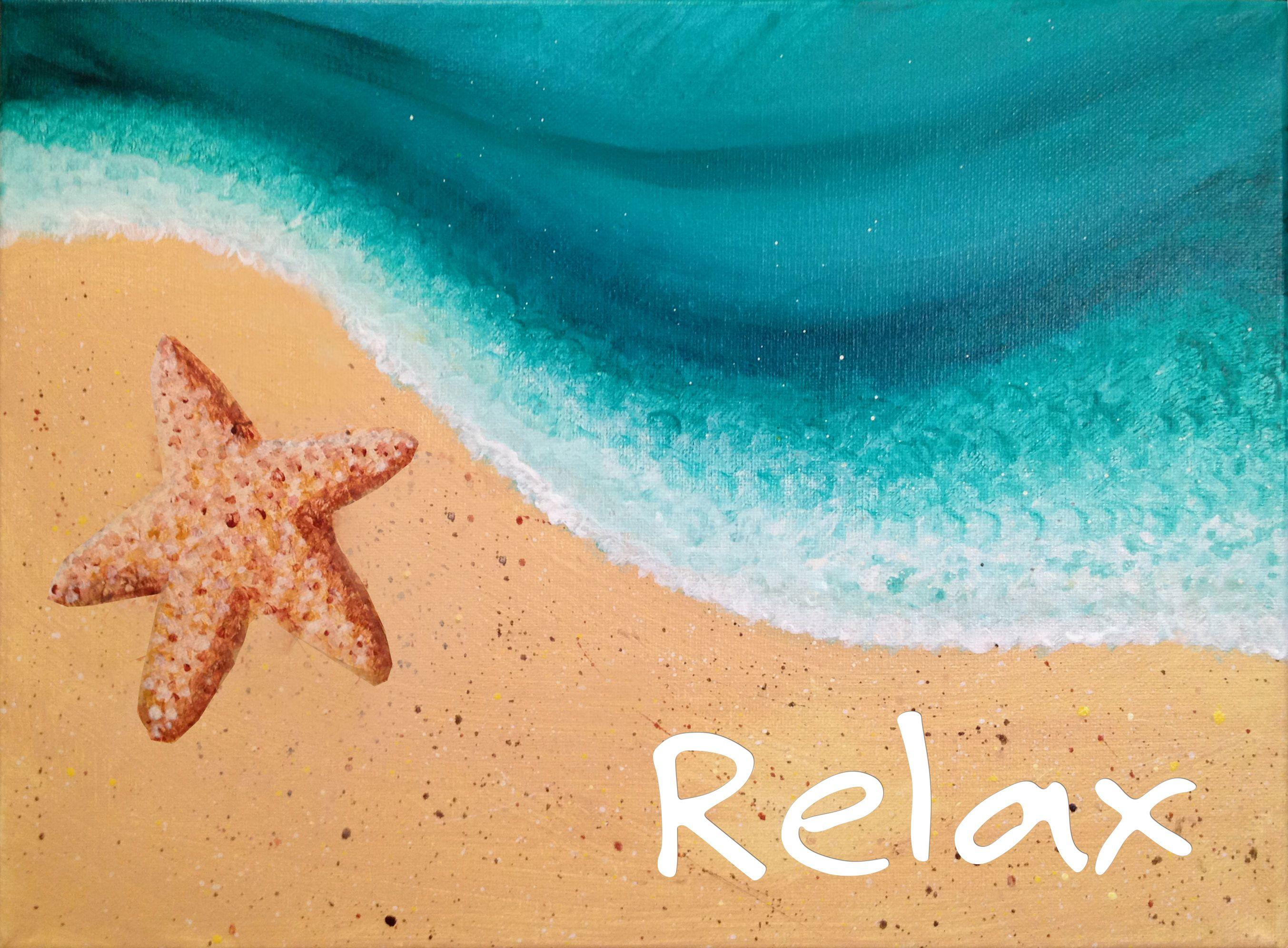 Starfish2 Jpg 2706 1992 With Images Beach Painting Beach