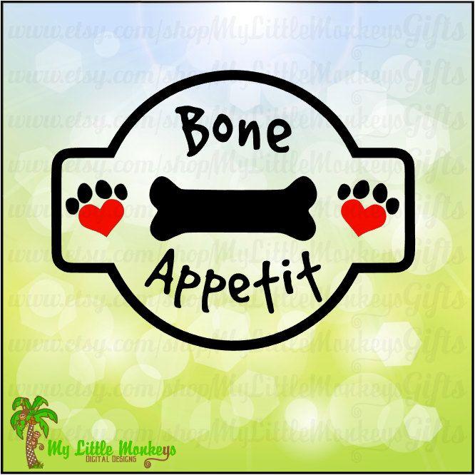 Bone Appetit Dog Bone Treat Jar Label Design For You To