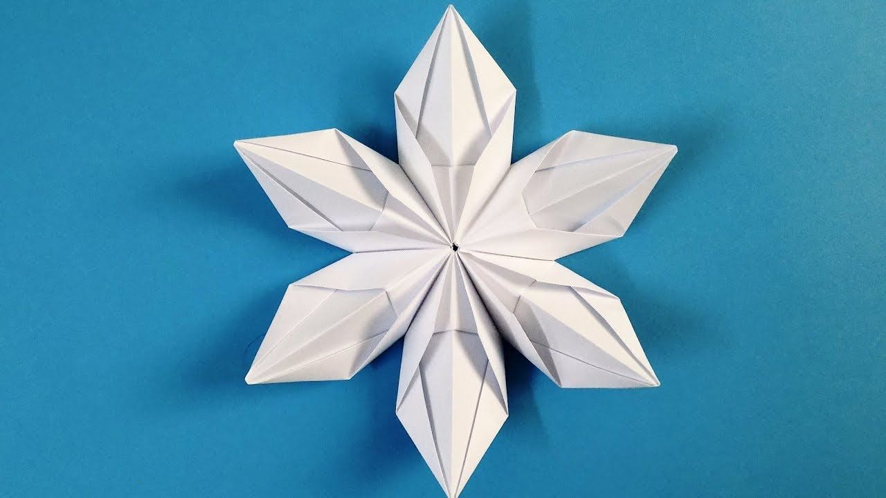 Origami Snowflake How To Make Beautiful 3d Snowflakes Origami Snowflake Origami 3d Snowflakes Christmas Origami