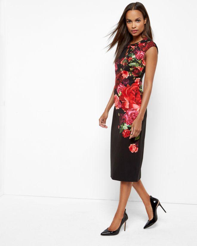 806de6066edffb Juxtapose Rose dress - Black