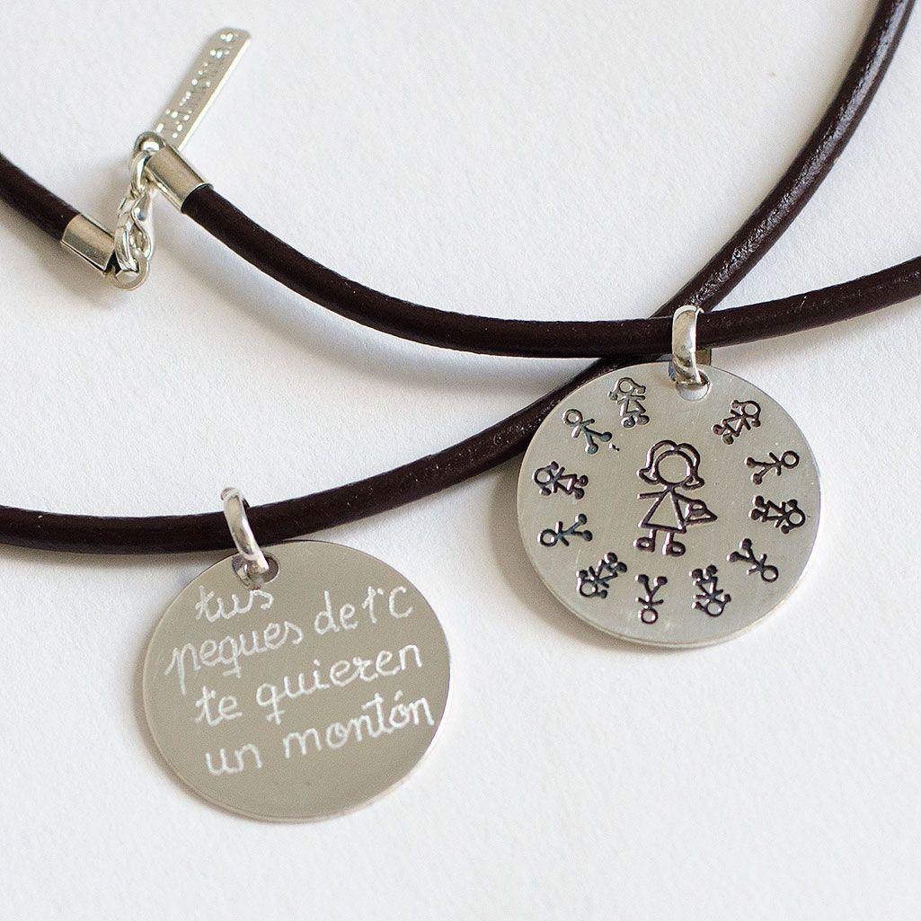78a034aa50a7 Joyas personalizadas collar de plata personalizado para regalar a la  profesora. Regalo fin de curso