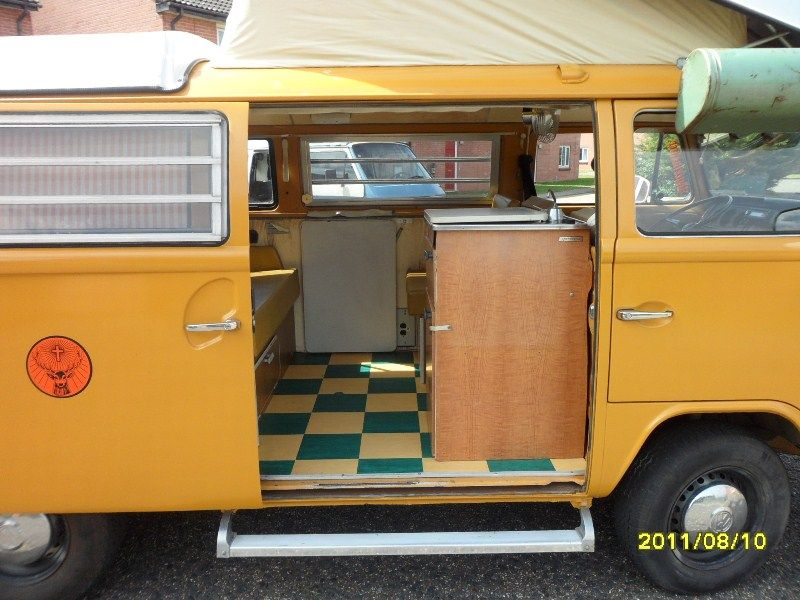 Groovy 70s VW Camper Interior