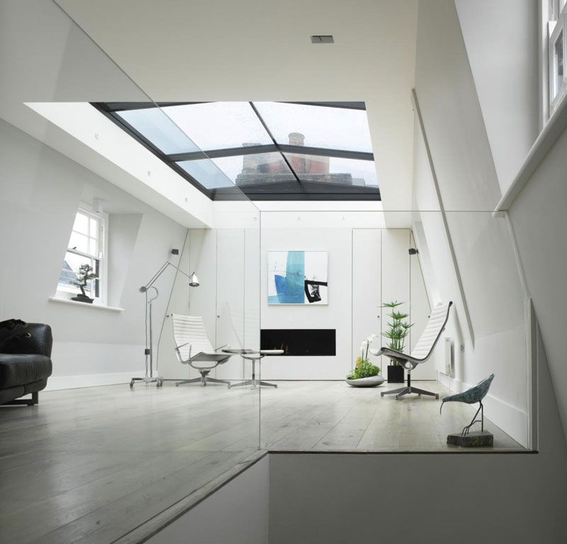 House In London With A Retractable Glass Roof Glass Roof House Roof Modern Roofing