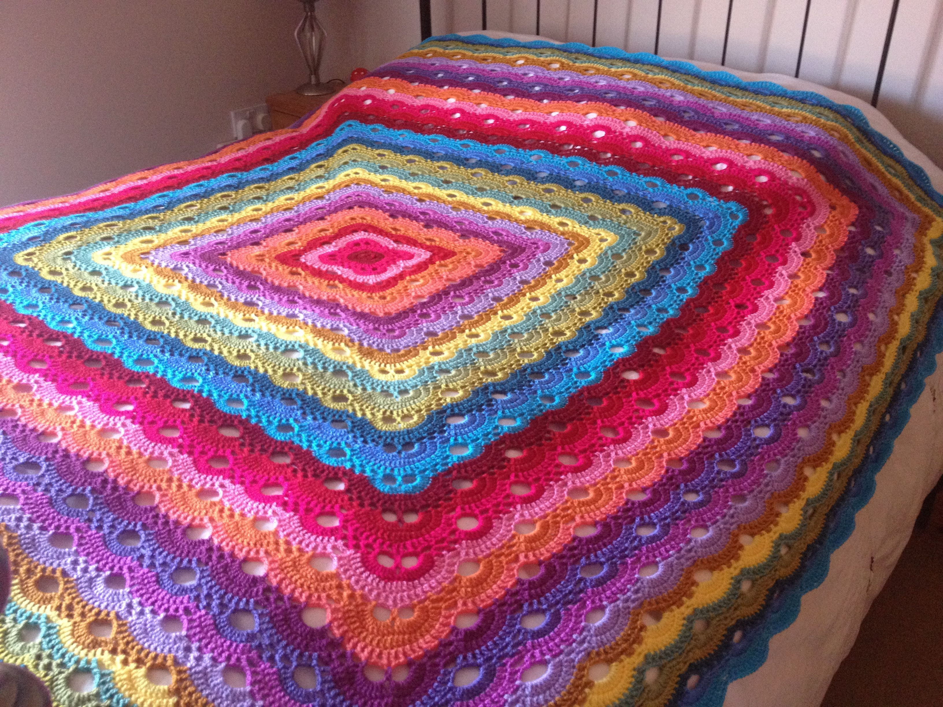 My gorgeous Virus Blanket. #Attic24 #Stylecraft | Crochet Favorites ...