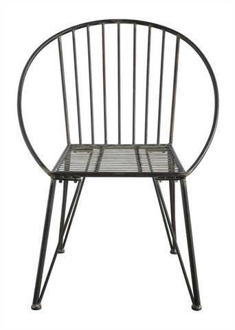 Round Metal Chair Frame Black Fiskos Masalari
