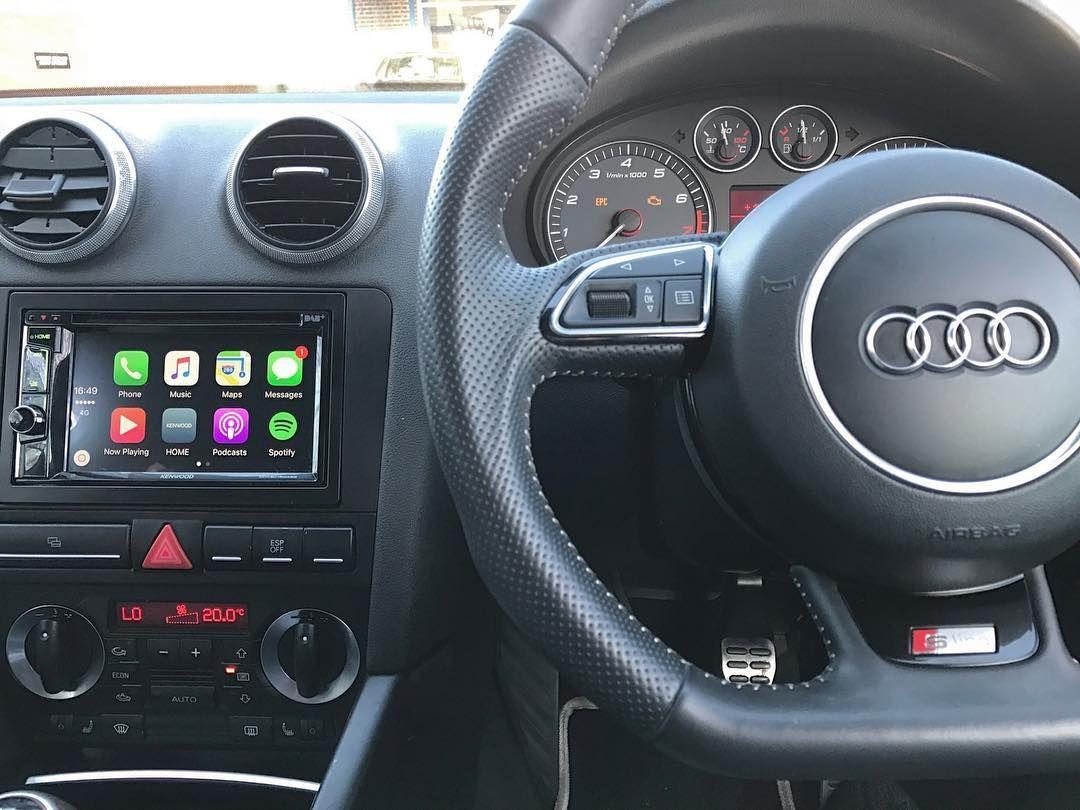 Audi S3 2008 installed with Apple CarPlay unit - Kenwood DDX