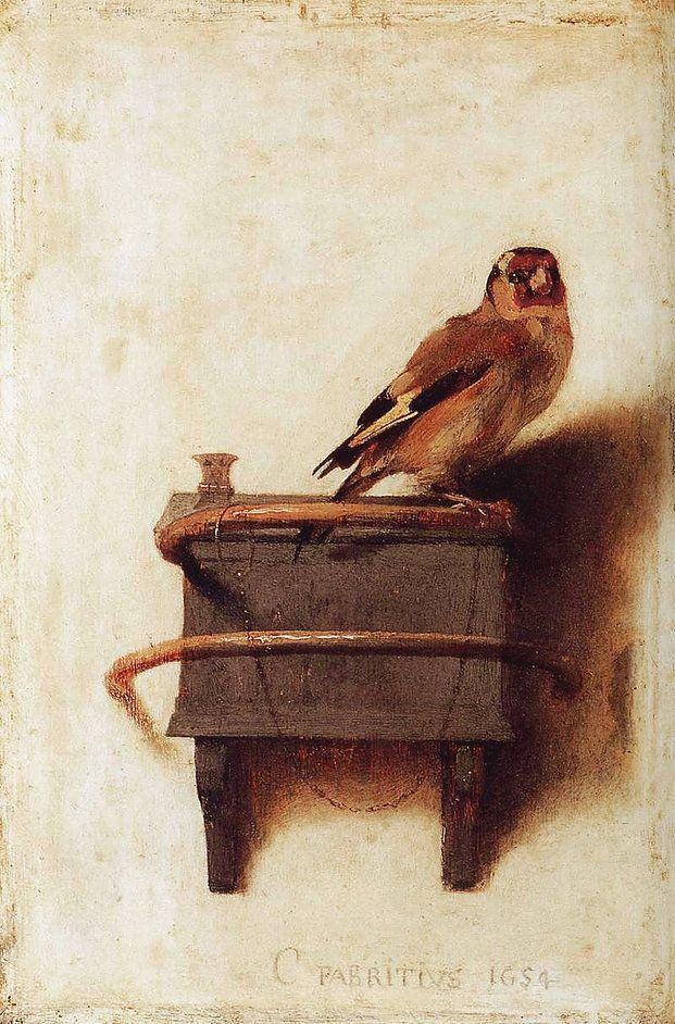 Carel Fabritius, The Goldfinch, 1654, oil on panel, 33 x 23 cm, Mauritshuis, The Hague