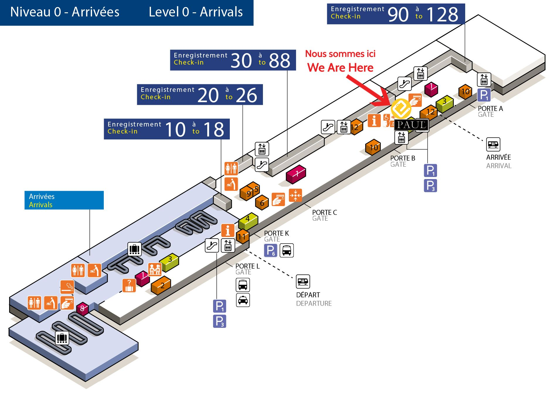 Eelway Meeting Point In Orly Airport Terminal Sud Vous Etes