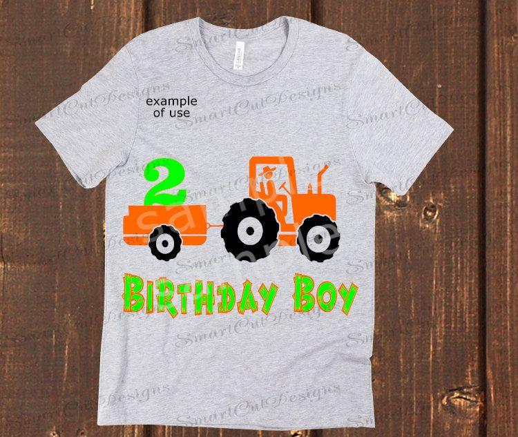 2nd Birthday Svg Boy Farm Tractor
