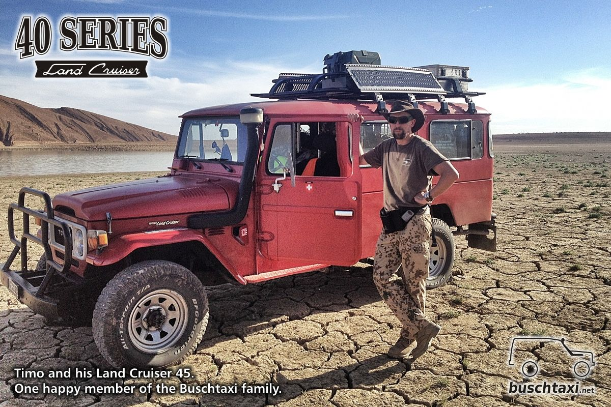 Timo and his land cruiser 45 somewhere in australia one proud member of the toyota fj40toyota