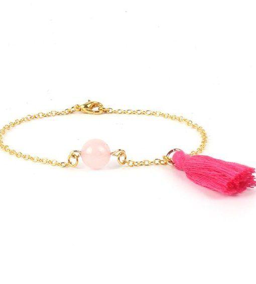 bracelet,cadeau,soeur,pierre,rose