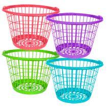 Bulk Large Bright Plastic Laundry Baskets At Dollartree Com Plastic Laundry Basket Baby Bath Toys Diy Toy Storage