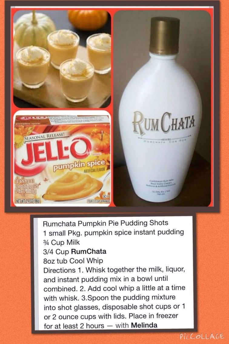 Rum Chata Pumpkin Pie Pudding Shots 1 small Pkg. pumpkin spice instant pudding ..., #Chata #Instant #Pie #Pkg #Pudding #Pumpkin #Rum #Shots #small #Spice