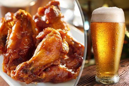alitas de pollo con cerveza