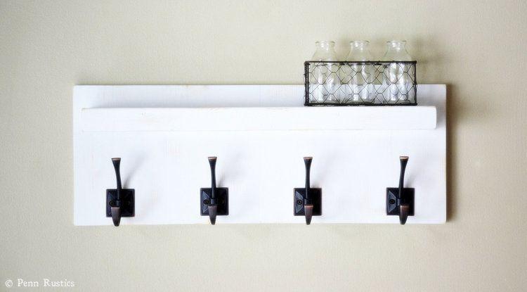 Coat Rack | Wood Coat Rack with Shelf | Entryway Organizer | Bathroom Towel & Robe Rack | Wall Mounted Coat Rack </div>                                   </div> </div>       </div>                  <div style=