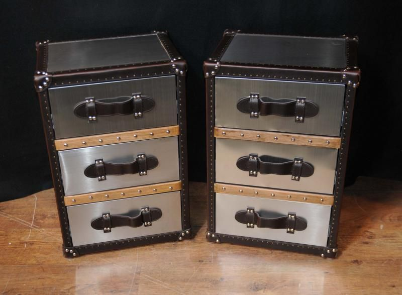 Funky Nightstands photo of pair industrial nightstands bedside chests tables