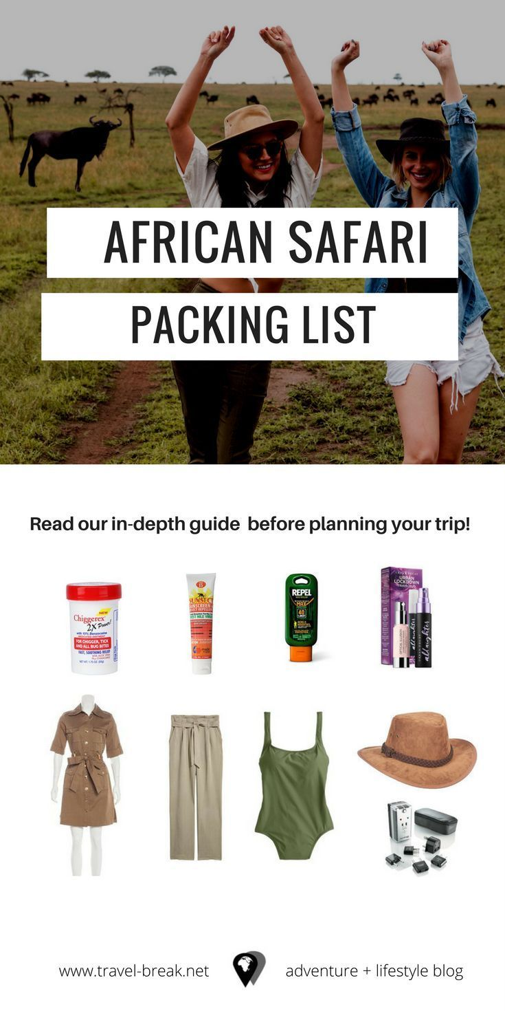 African Safari Packing List & Planning Guide African