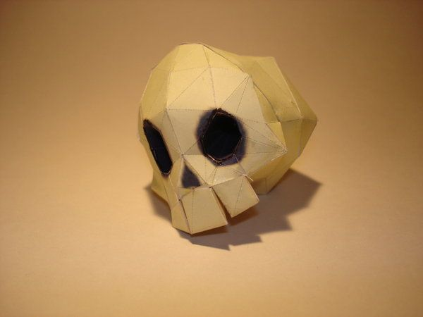 Dungeon Skull Papercraft by Skele-kitty.deviantart.com on @deviantART
