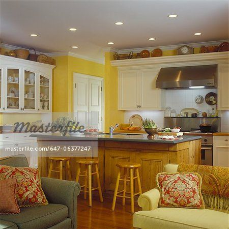 Yellow Kitchens With White Cabinets   Google Search