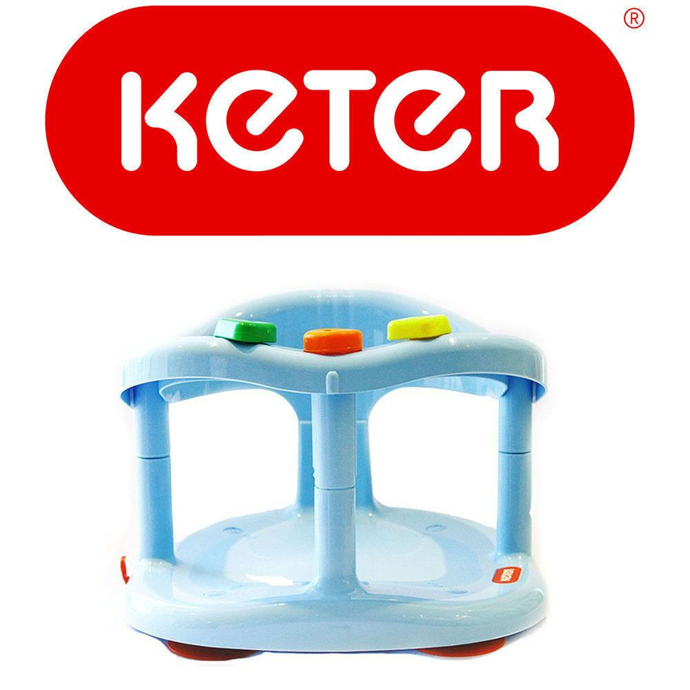 Blue Baby Bath Seat Ring by Keter 4 Anti Slip Suction MAXIMUM Safety