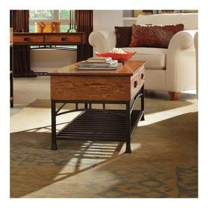 Home style modern craftsman end table.