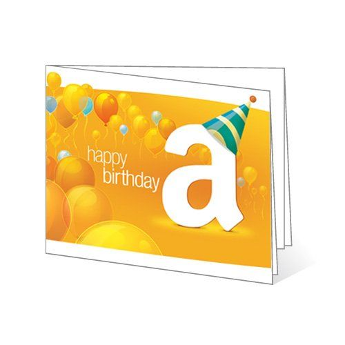 Amazon Com Gift Cards Print At Home 0 15 Best Gift Cards Gift Card Printing Happy Birthday Balloons
