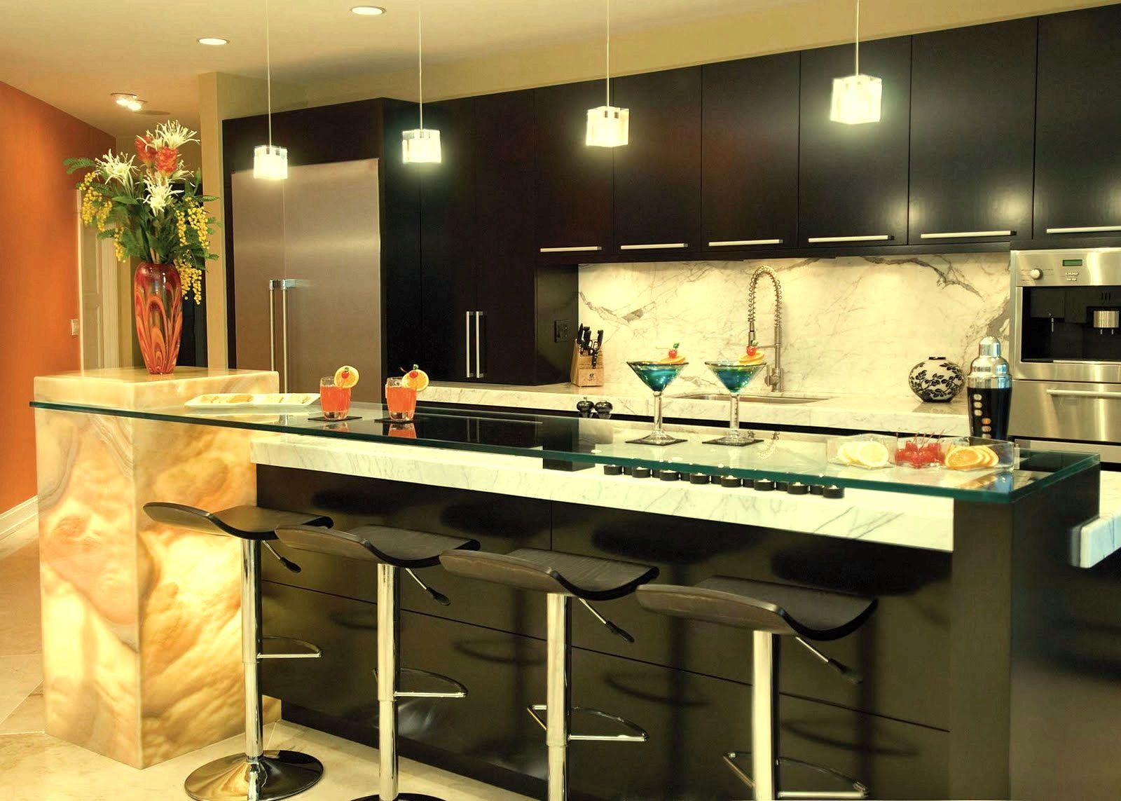 barra/desayunador en una cocina funcional | desayunador | Pinterest ...
