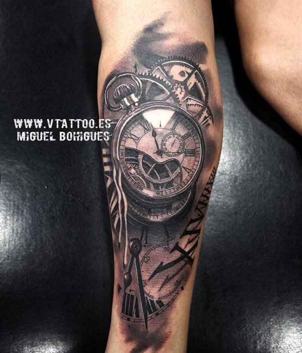 Tatuaje Reloj Miguel Bohigues V Tattoo Tattos Tatuajes De