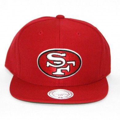 e16c6e75e07 Mitchell   Ness NFL San Francisco 49ers Throwback Team Primary Color  Snapback