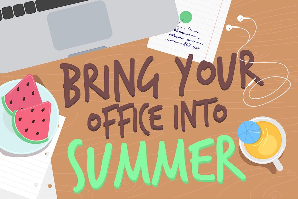 How To Enjoy Summer In The Office Infographic Office Party Ideas