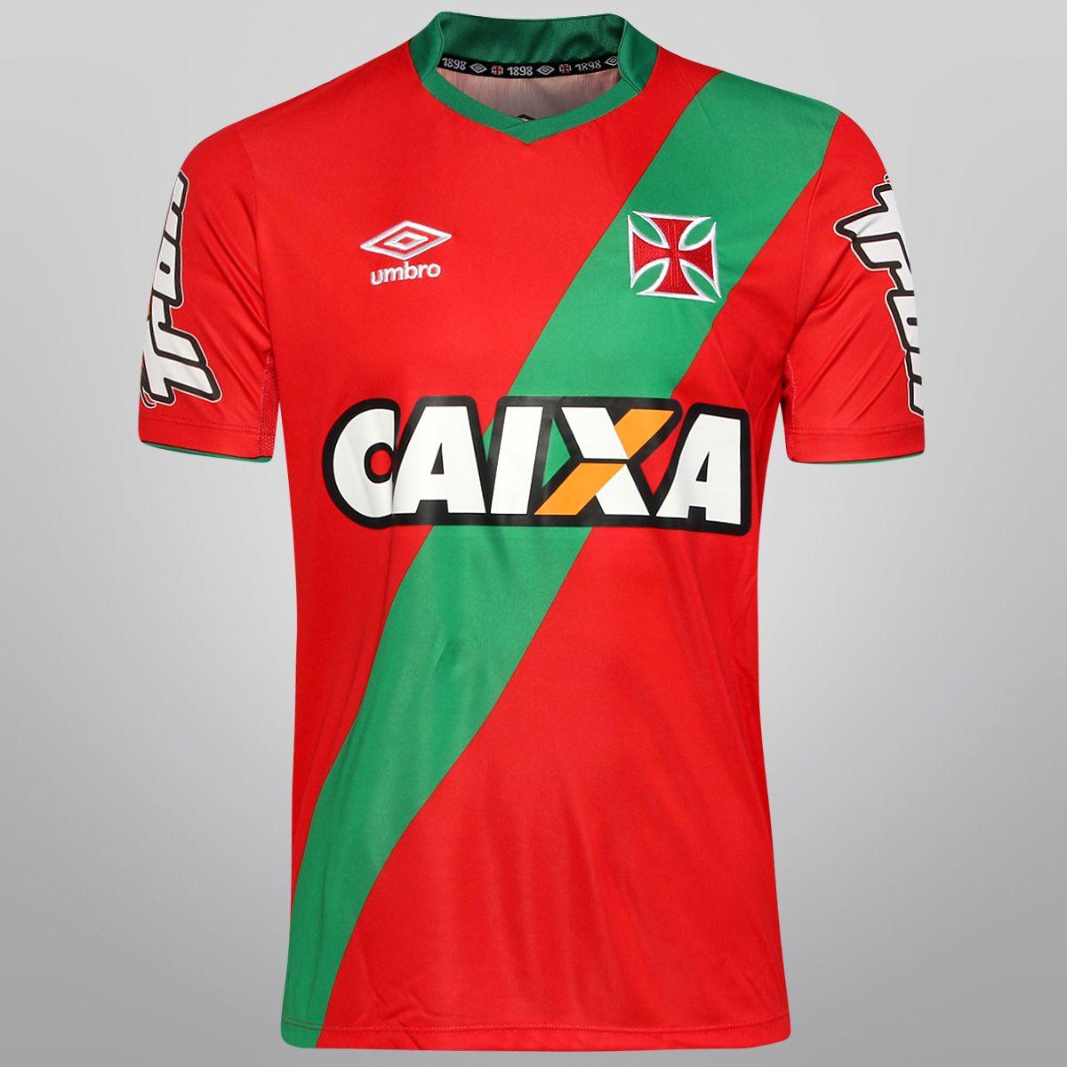 f17c40e345 Camisa Umbro Vasco Goleiro 2014 nº 1 M C Vermelho e Verde