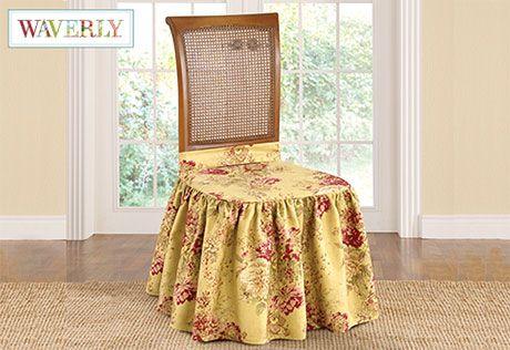 Outstanding Ballad Bouquet Long Dining Chair Slipcover Slipcovers For Machost Co Dining Chair Design Ideas Machostcouk