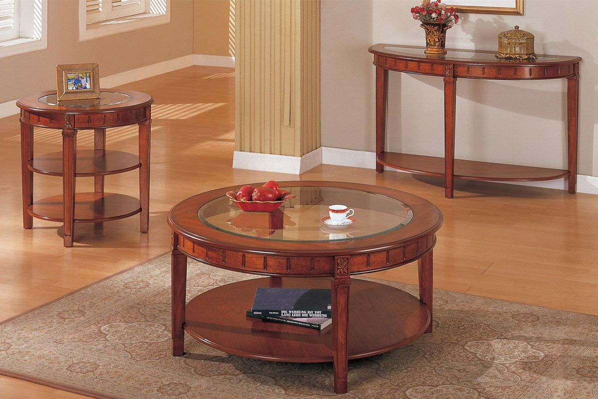 Round Coffee And End Tables Coffee table with storage