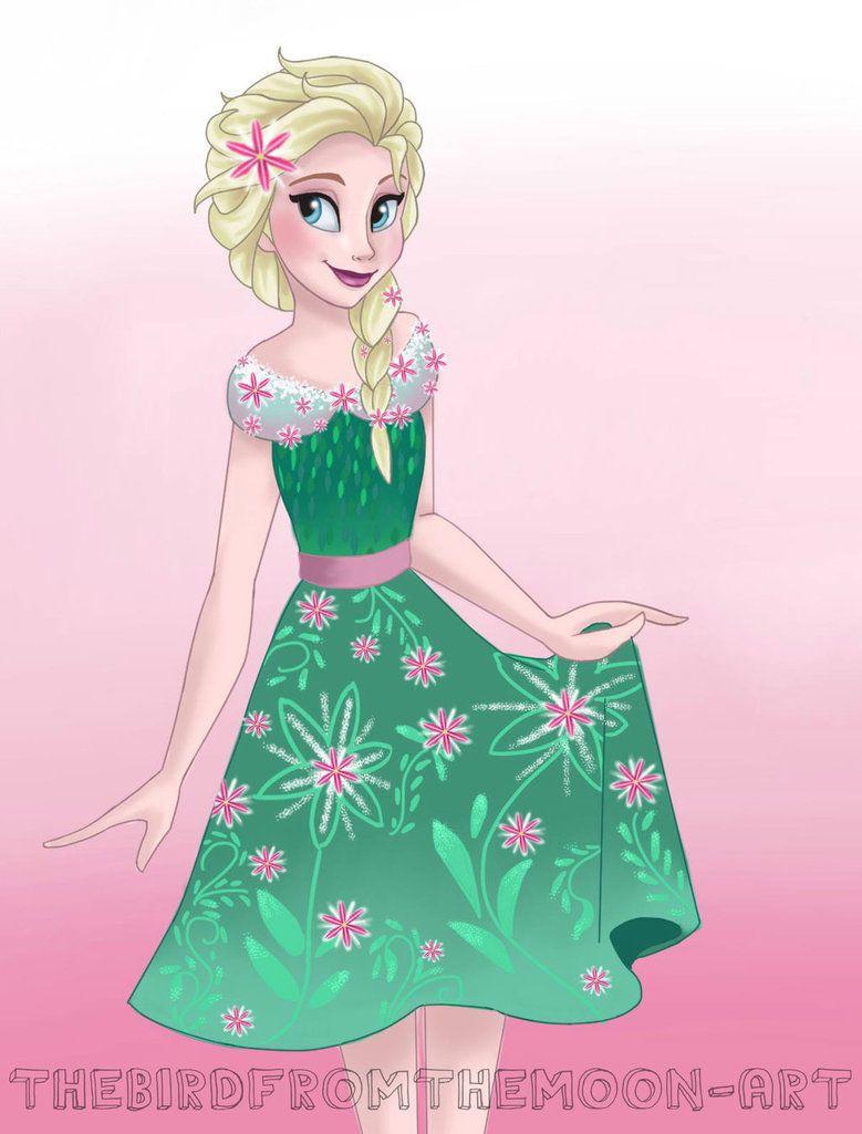 Elsa Frozen Fever Dapper day by TheBirdFromTheMoon on DeviantArt