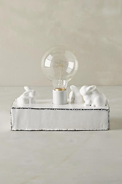 Ceramic Rabbit Lamp Base | Lamp bases, Kids furniture and Lights