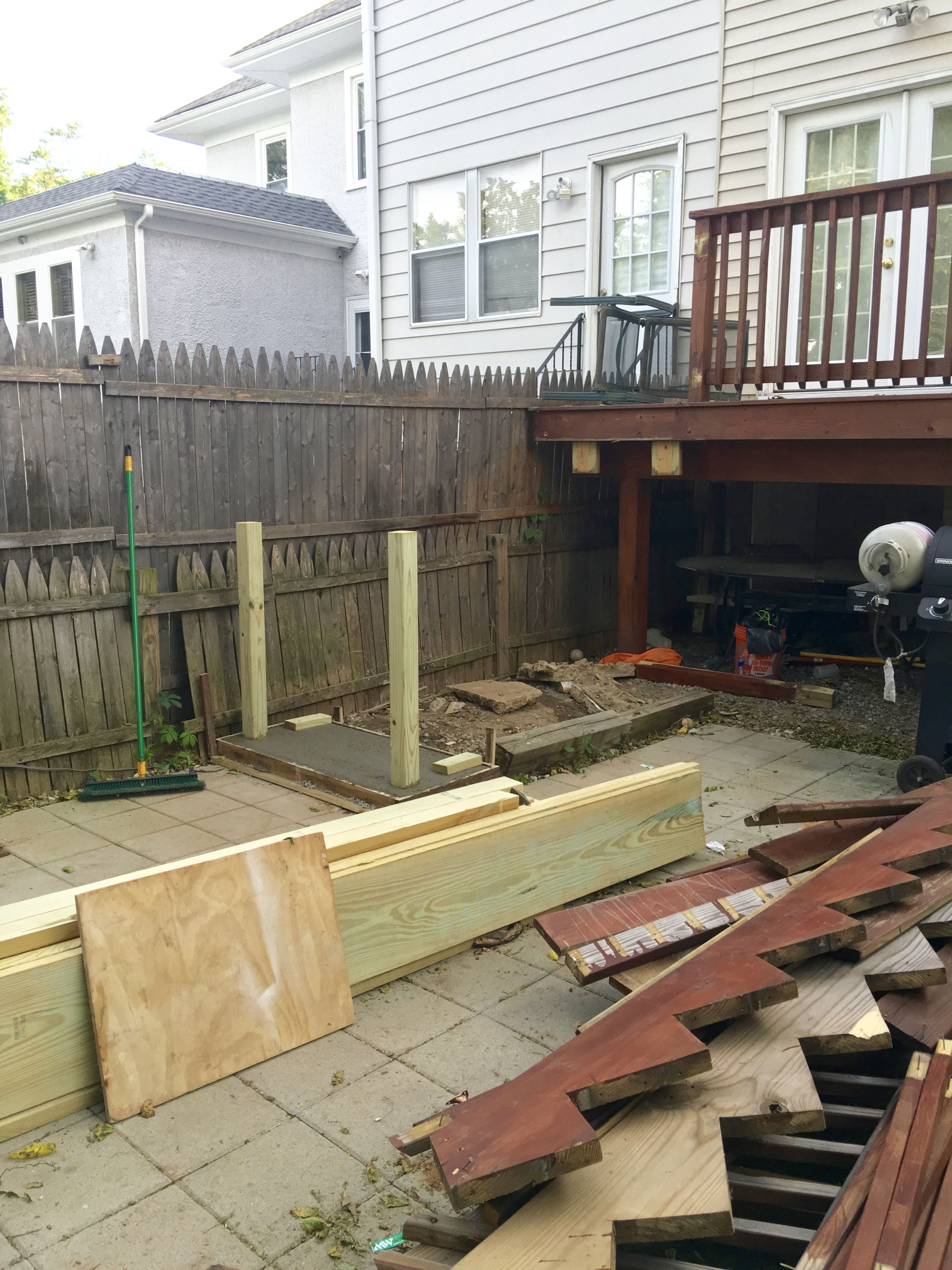 Merveilleux A Bottom Concrete Step And Deck Renovation In Process Replacing The Deck  Stairs | Eclectically Grey