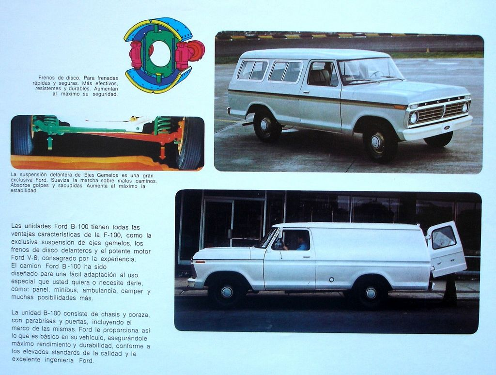 1974 Ford B 100s Sold Only In Latin America These Were Suburban Type Trucks That Were Marketed As Such And Sold For Several Y Carros E Caminhoes Carros Auto