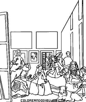Dibujo infantil Las Meninas para colorear | Meninas after meninas ...