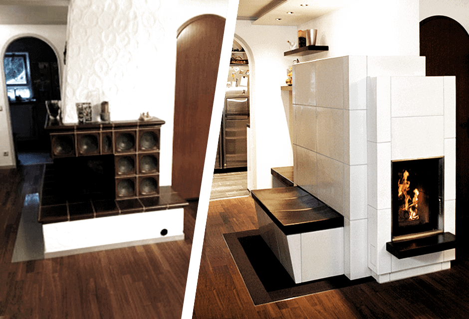Bild Ergebnis Fur Herd Modernisierung Vorher Nachher In 2020 Kachelofen Kachelofen Modern Badezimmer Umgestalten