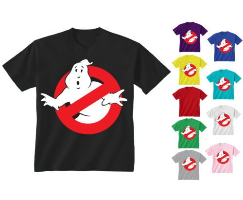 215dd1bd0 Youth Kids Childrens Ghostbusters Retro Movie Logo T-shirt NEW Age 5-13  Years OR maybe these for the girls in their color choices with their ages  on the ...