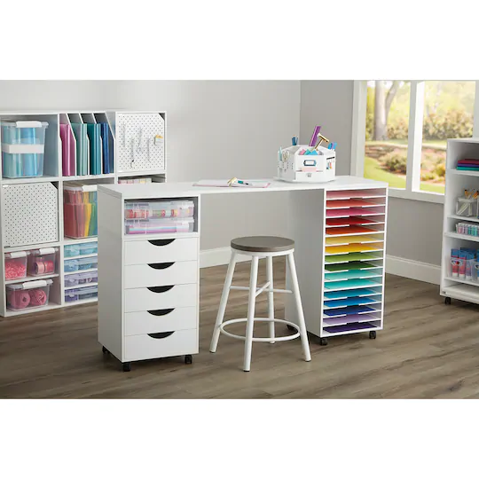 Modular Table Top By Simply Tidy In 2020 Craft Tables With Storage Craft Room Tables Ikea Craft Room