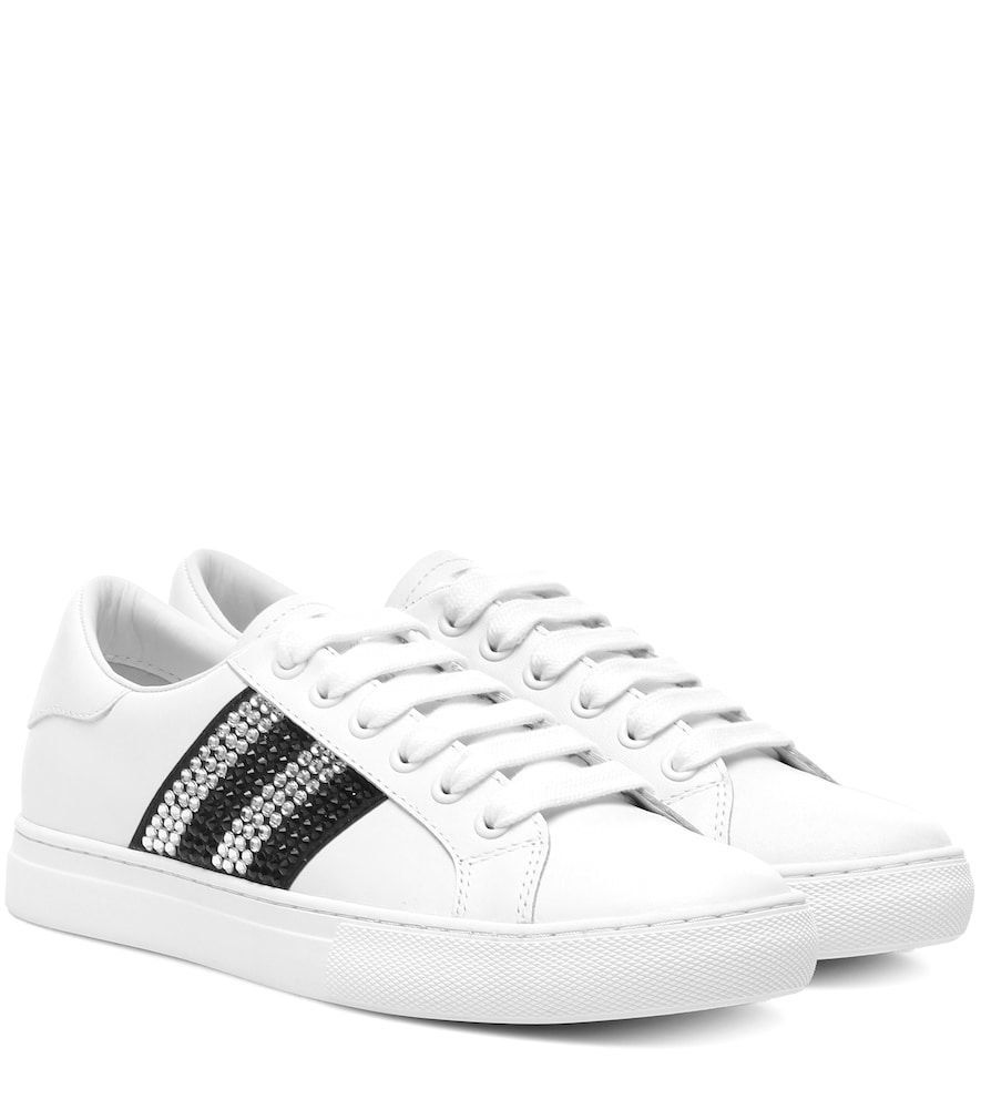 a15b590a30d1 Embellished leather sneakers